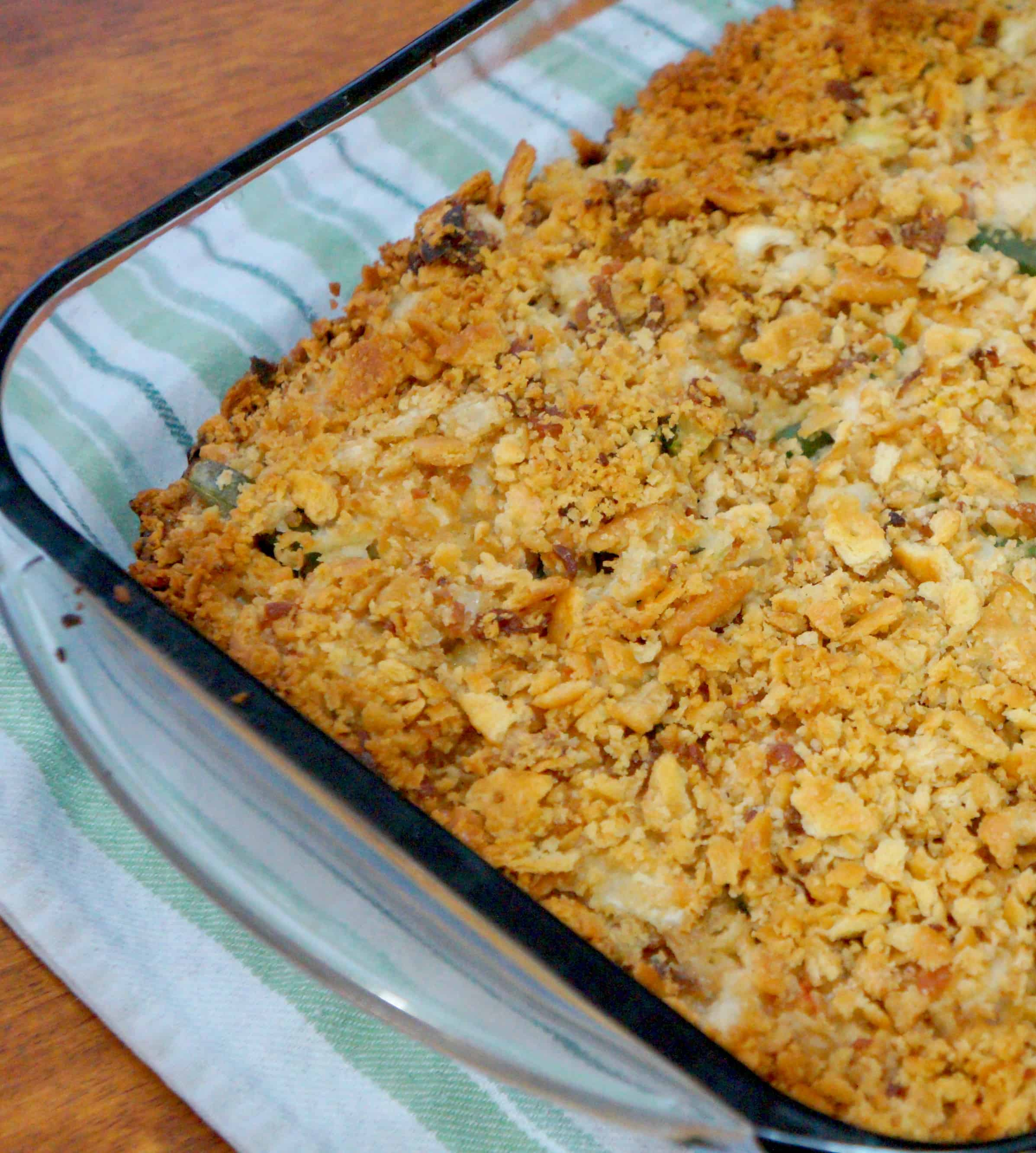 chicken and green bean casserole pan. Easy green bean casserole with chicken recipe.