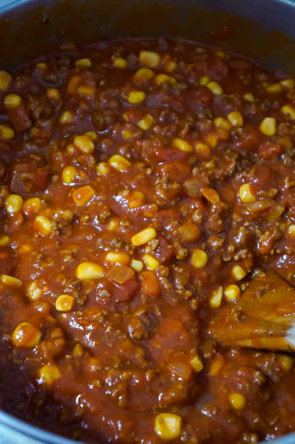 no bean chili cooking