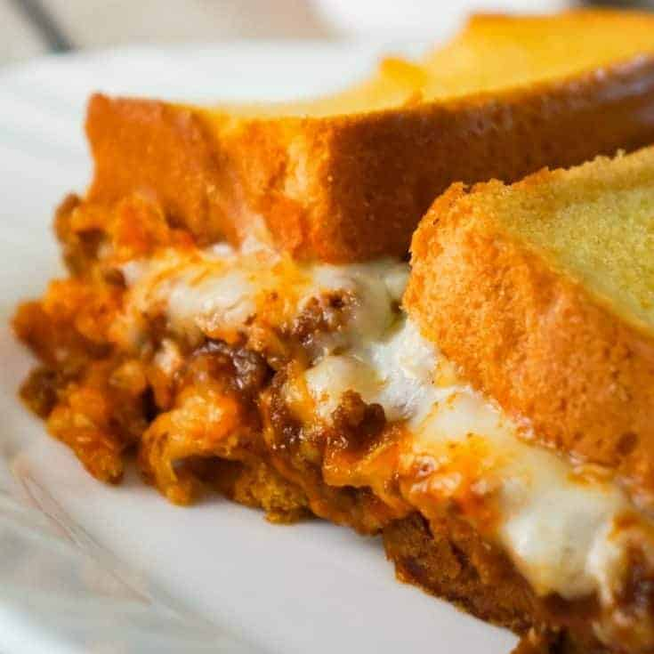 Sloppy Joe Grilled Cheese Casserole