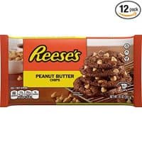 REESE'S Peanut Butter Baking Chips, Gluten Free, 10 Ounce Bag (Pack of 12)