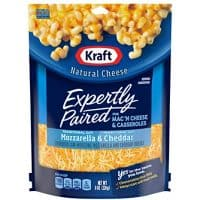 Kraft Expertly Paired Shredded Cheese for Mac 'N Cheese, Mozzarella & Cheddar (8 oz Bag)