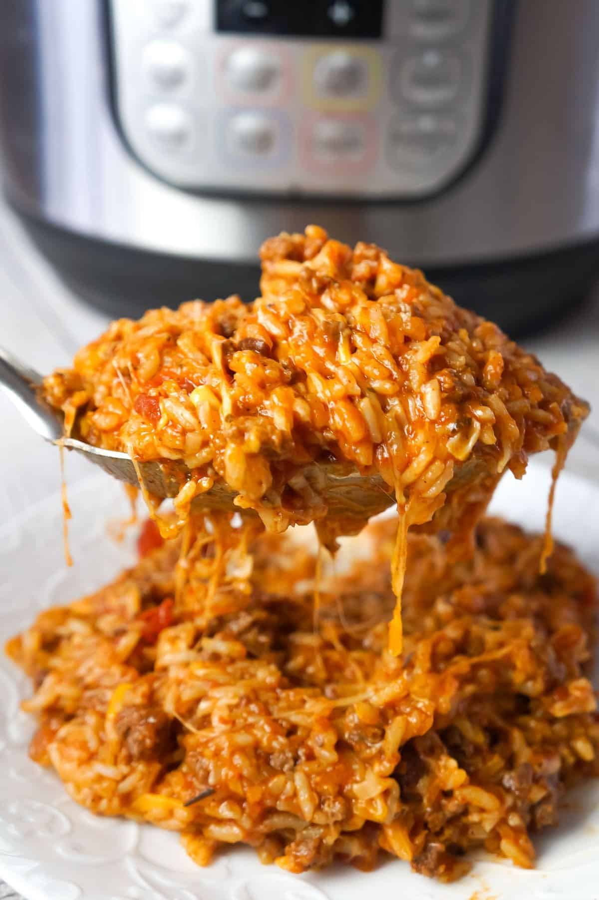 Instant Pot Cheesy Taco Ground Beef and Rice