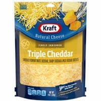 Kraft Natural Finely Shredded Triple Cheddar Cheese (8 oz Bag)