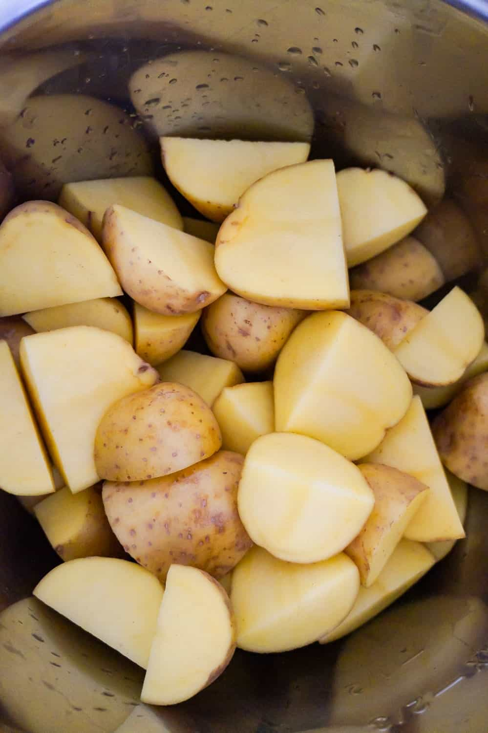 quartered potatoes in an Instant Pot