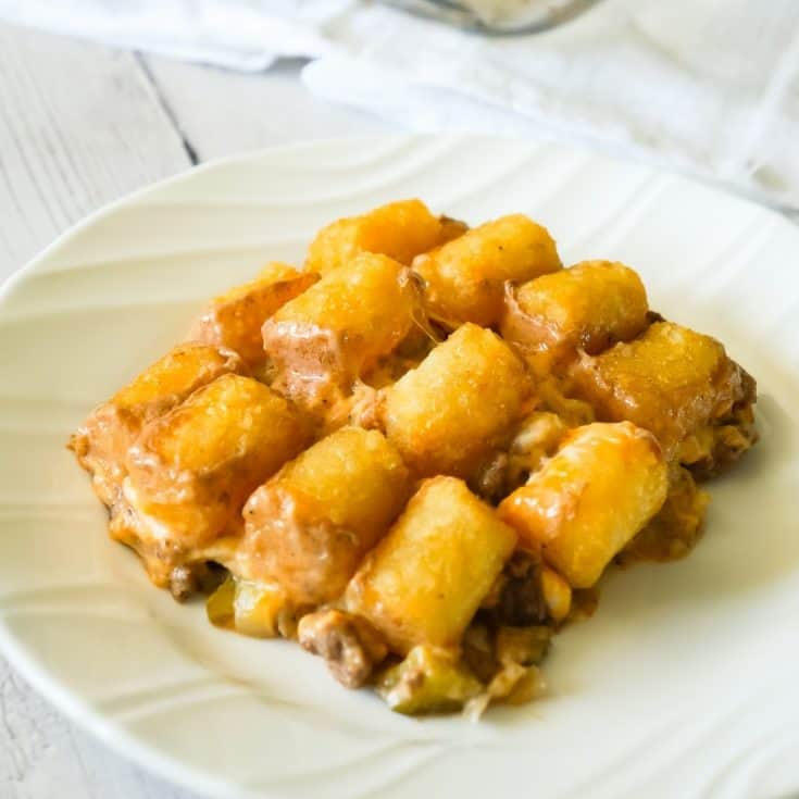 Hamburger Casserole with Tater Tots
