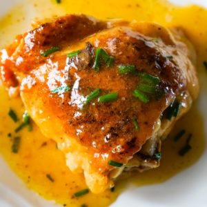 Instant Pot Chicken Thighs is a delicious pressure cooker chicken recipe with gravy cooked all in one pot.