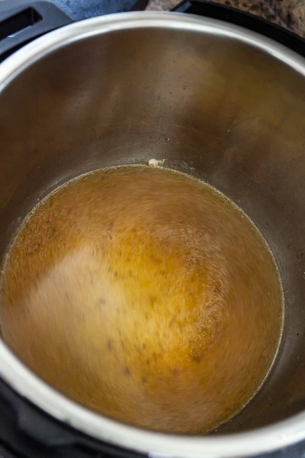 condensed chicken broth in an Instant Pot