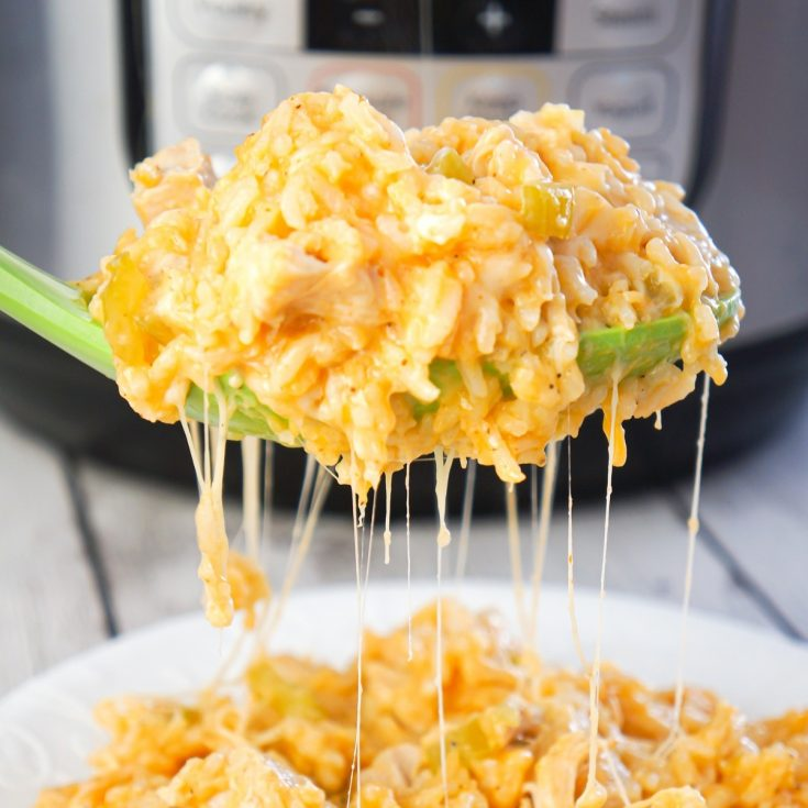 Instant Pot Cheesy Buffalo Chicken and Rice