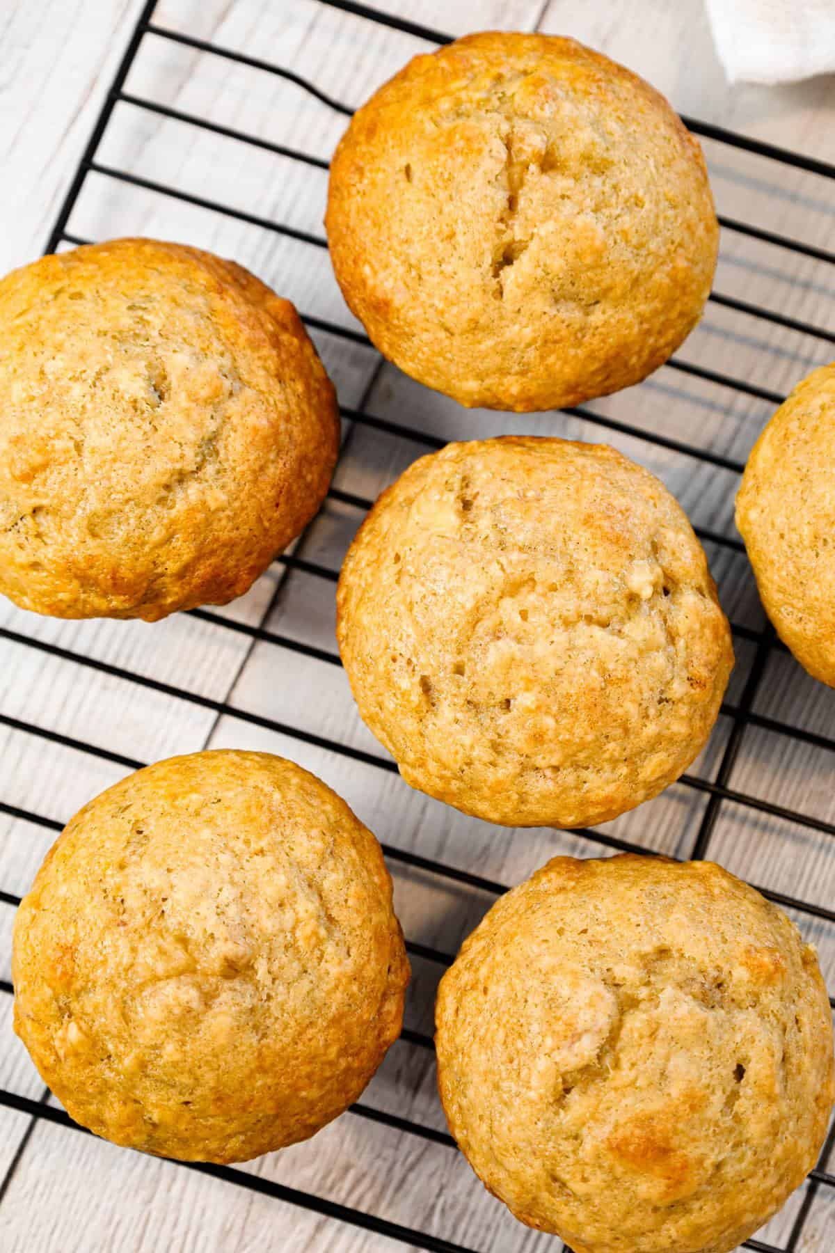 Banana Nut Muffins are delicious homemade banana muffins loaded with chopped walnuts.