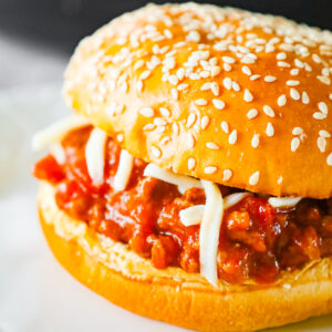 Instant Pot Sloppy Joes are an easy pressure cooker ground beef dinner recipe with a sauce made from diced tomatoes, ketchup, Worcestershire sauce and spices.