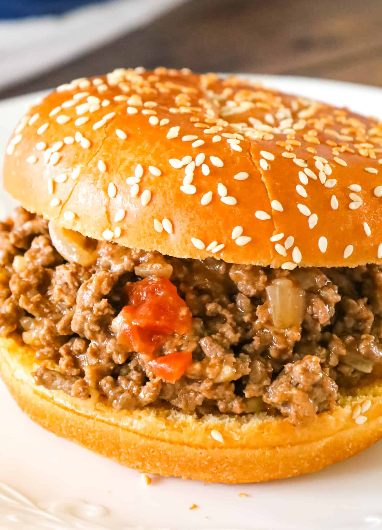 Chicken Gumbo Sloppy Joes are an easy weeknight dinner recipe using lean ground beef and Campbell's chicken gumbo soup.