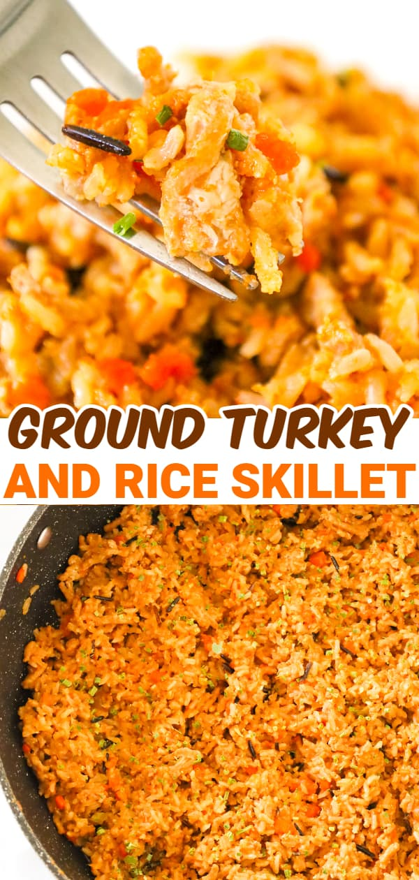 Ground Turkey and Rice is a simple and delicious one pot dinner recipe using brown and wild rice loaded with diced carrots, celery onion and ground turkey cooked in chicken broth and tossed with soy sauce.