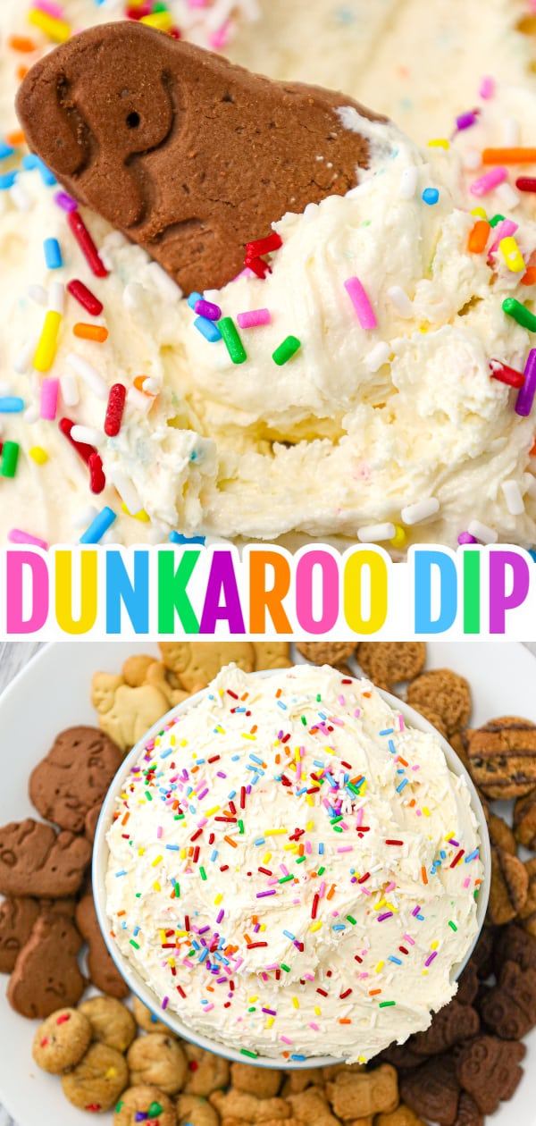 Dunkaroo Dip is a simple and delicious funfetti cake batter dip recipe that will remind you of the childhood treat.