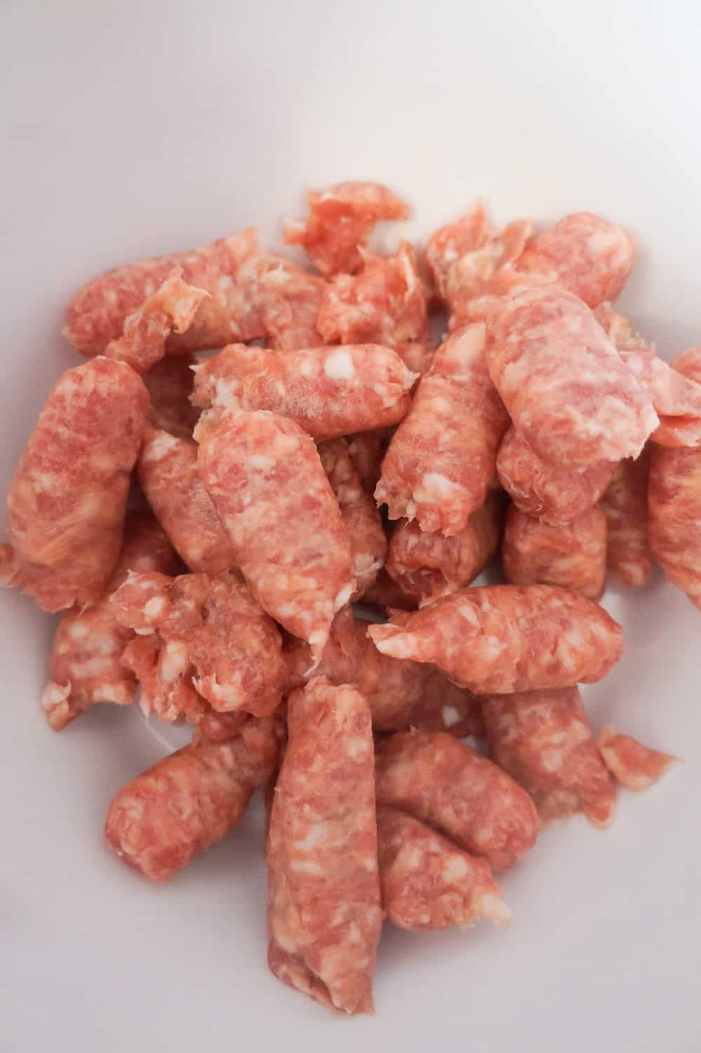 breakfast sausage meat removed from casings