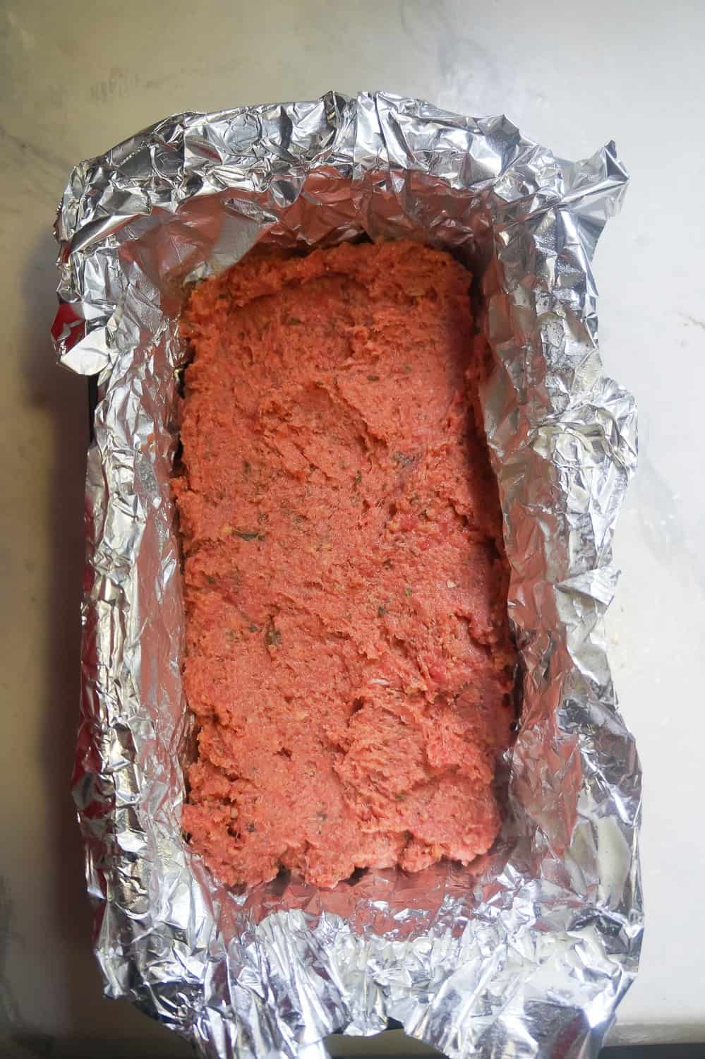 ground chicken in loaf pan